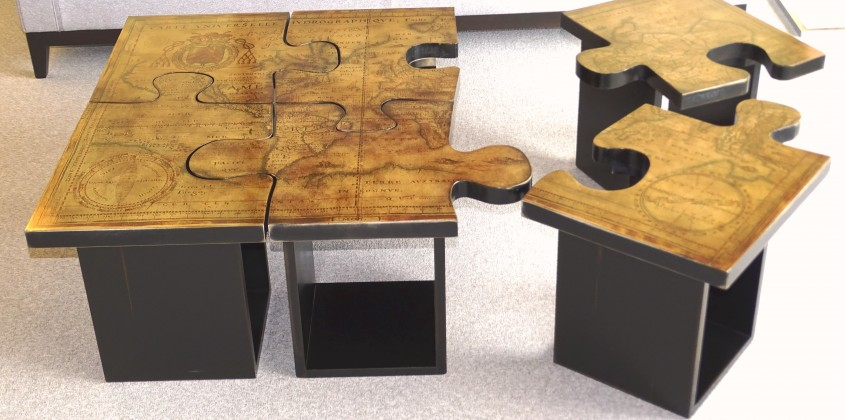 Table basse puzzle